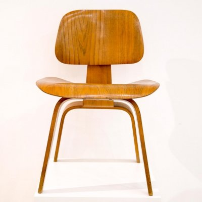 1st edition Dining Chair Wood (DCW) from Charles & Ray Eames for Evans, 1940s