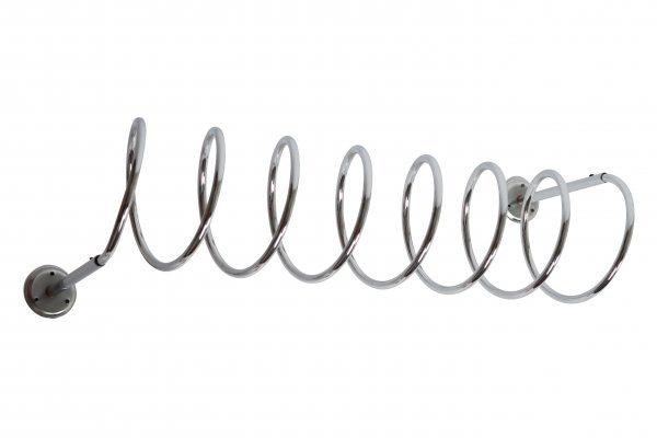 Extra large Vintage Chromed spiral coat rack, 1970s