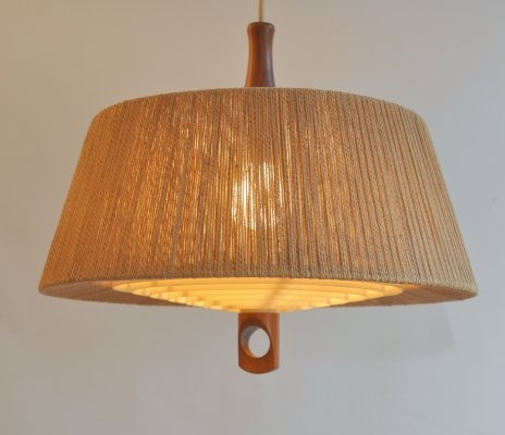 Temde Leuchten pull down ceiling light, 1970s