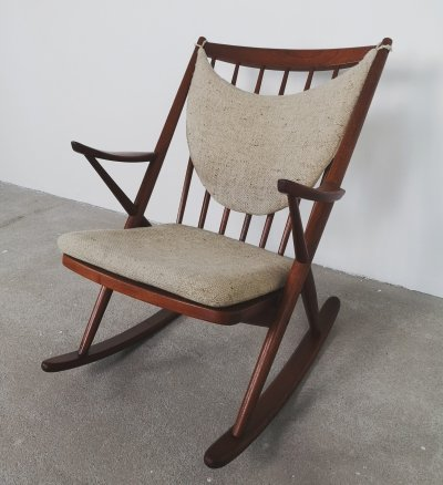 Bramin rocking chair in teak, 1960s