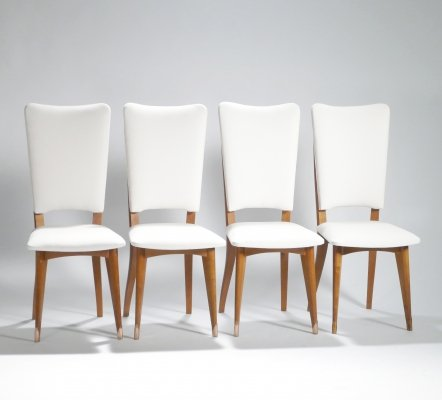 Set of 6 Mid-century Scandinavian teak chairs, 1960s