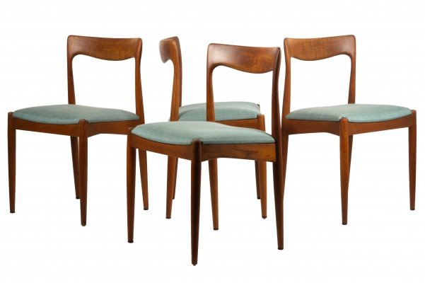 Set of 4 dining chairs by Arne Vodder for Vamø, 1960s