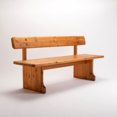Solid Pine Bench by Carl Malmsten for Karl Andersson & Söner, Sweden 1960s