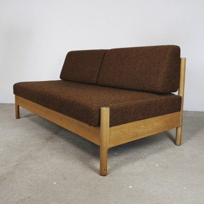 Danish daybed in brown by Den Blaa Fabrik, 1960s