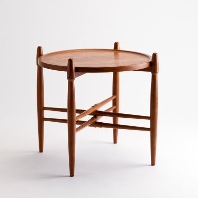 Poul Hundevad Teak Tray Table, Denmark 1960s