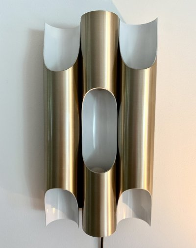 Rare large copper anodised Fuga wall light by Maija Liisa Komulainen for Raak, 1960s