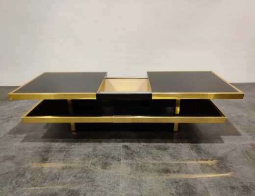 Hidden bar coffee table by Willy Rizzo, 1970s