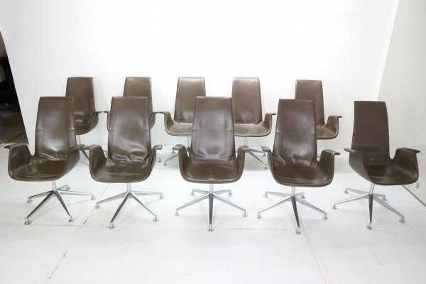 Set of 11 Preben Fabricius & Jørgen Kastholm 'Bird' Model-FK672 Chairs, 1960s