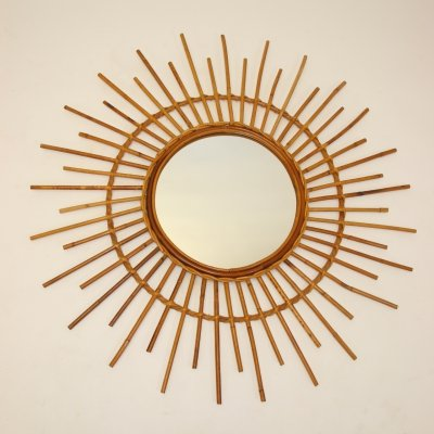 Big vintage french sunbeam mirror, 1950s
