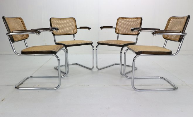Original set of 4 Model-S64 Chairs by Marcel Breuer for Thonet