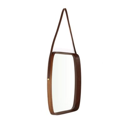 Mirror with teak wood frame, 1960s
