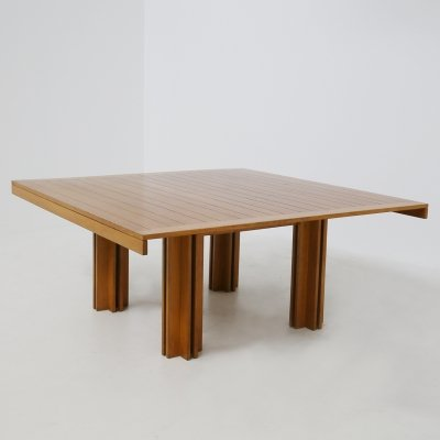 Carlo Scarpa Italian wooden 'Quatour' table for Gavina, 1970s