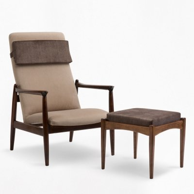 GFM-64 armchair with footstool by E. Homa