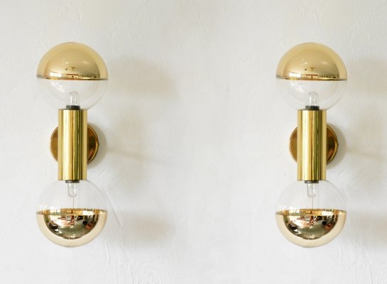 Pair of wall lamps by Motoko Ishii for Staff Leuchten, 1970s