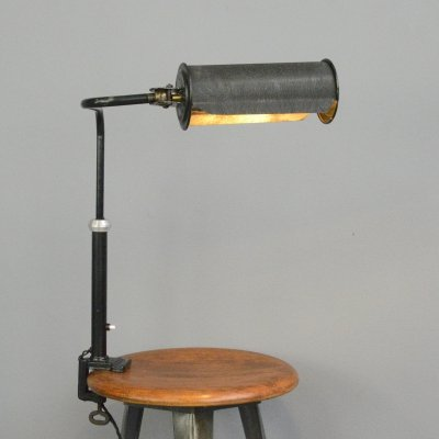 Articulated Clamp On Library Lamp, Circa 1930s