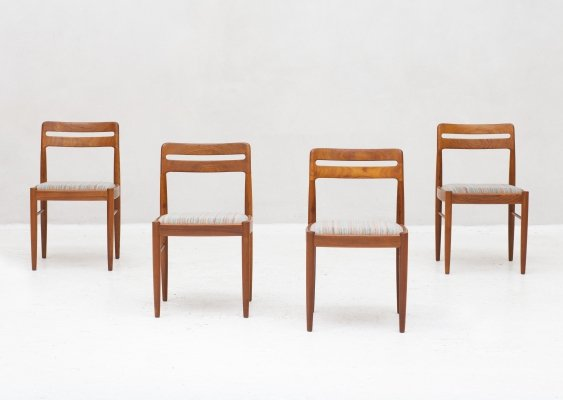 Set of 4 dining chairs by H.W. Klein for Bramin, Denmark 1960