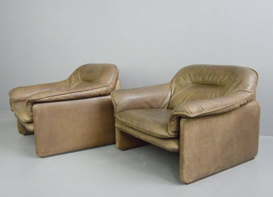 Mid Century Leather Chairs by De Sede, Circa 1960s