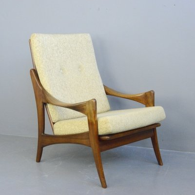 High Back Mid Century Lounge Chair by Gelderland, Circa 1950s