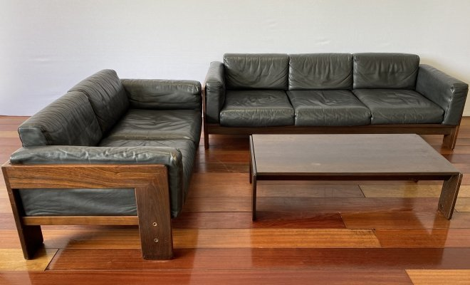 Vintage Bastiano Sofas & Table by Tobia & Afra Scarpa for Gavina, 1970s