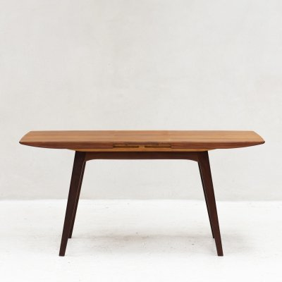 Extendable dining table by Louis Van Teeffelen for Wébé, Holland 1960