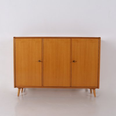 Cherry wood sideboard with sliding doors, 1950's