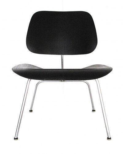 LCM chair with Original black aniline dye finish by Charles & Ray Eames for Evans, 1947