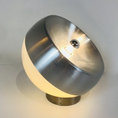 Table or Floor Light in aluminium & plexi, Italy 1970's