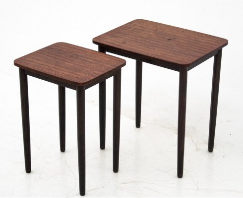 Set of two rosewood Danish coffee tables, 1960s