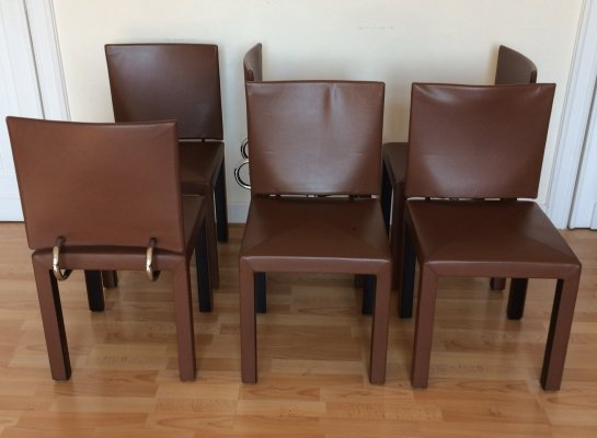 Set of 6 Arcadia series Chairs by Paolo Piva for B&B, 1985