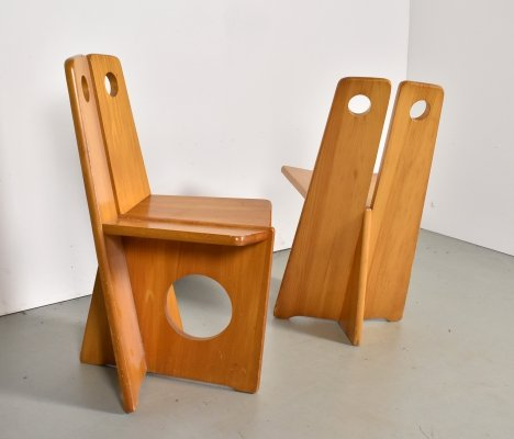 Rare set of 2 side chairs by Gilbert Marklund, 1970s