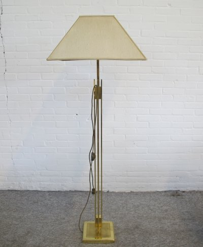 Vintage brass floor lamp, 1980s