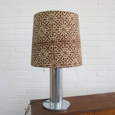 Vintage metal & fabic desk lamp, 1970s