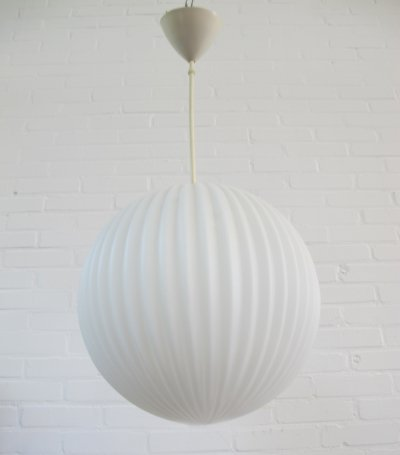 Philips glass ball bubble hanging lamp, 1960s