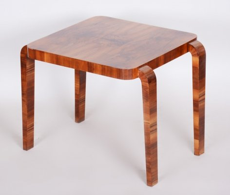 Early 20th Century Small Walnut Table by Jindrich Halabala for UP Zavody, 1930s