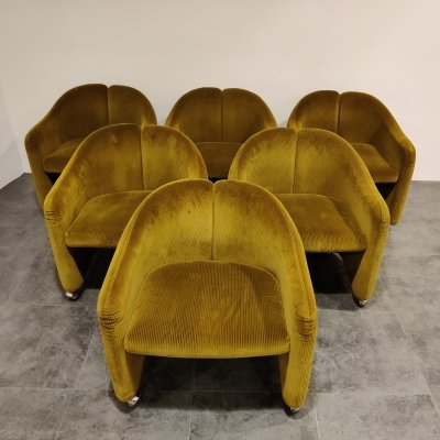 Set of 6 Armchairs by Eugenio Gerli for Tecno, 1960s