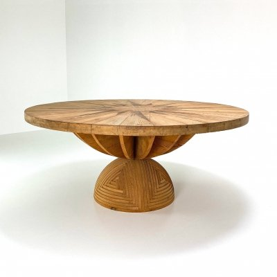 Rosa Dei Venti dining table by Mario Ceroli for Poltronova, 1970s