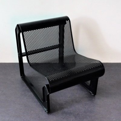 Black metal 'Lagos' chair by Nel Verschuuren for Artifort, The Netherlands 1983