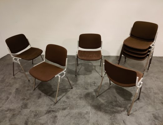 Vintage DSC 106 Side Chairs by Giancarlo Piretti for Castelli, 1970s