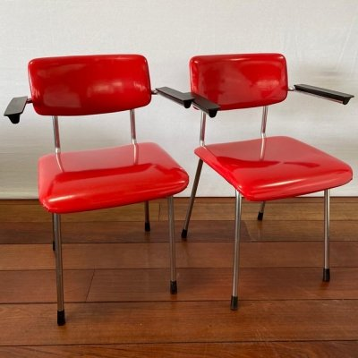 2 x Vintage Gispen 1235 chairs, 1960s