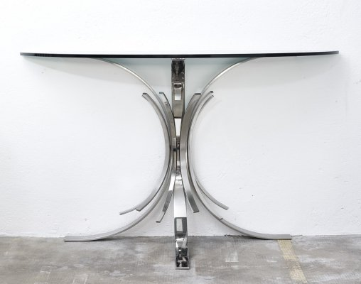 Gerbe console table by Maria Pergay, 1970s