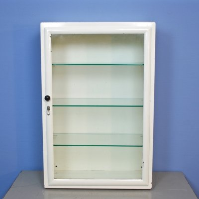 Dutch medicine cabinet in white by Oostwoud, 1950s