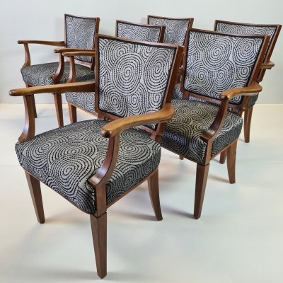 Mid-Century Dutch design arm chairs by W. Kuyper for Bureau Kuyper