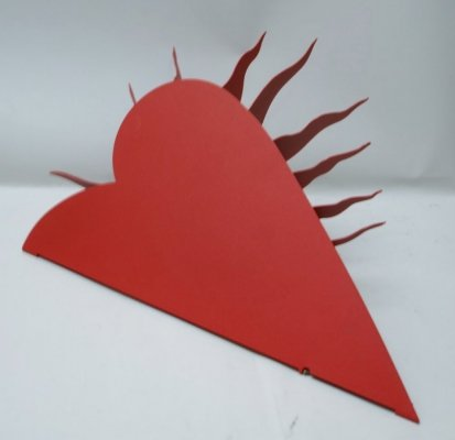 Heart-Shaped Wall Lamp 'One for the Recession' by Ingo Maurer, 1985