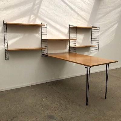 Vintage writing desk / wall unit by String Design AB