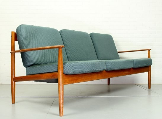 Grete Jalk Model- 118 Three-Seat Teak Sofa for France & Son, Denmark 1963