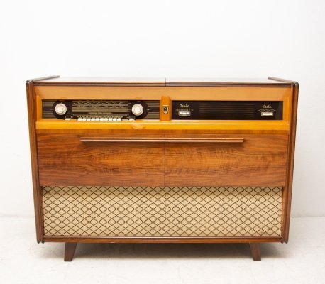 Mid century Record player & radio by Tesla, Czechoslovakia 1950´s