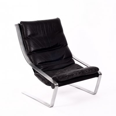 Vintage 1960 leather lounge chair
