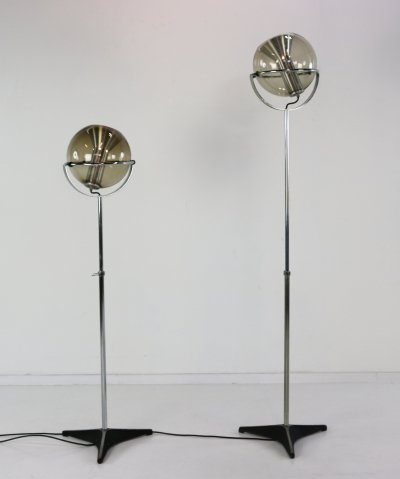 Set of two Globe floor lamps by Frank Ligtelijn for Raak