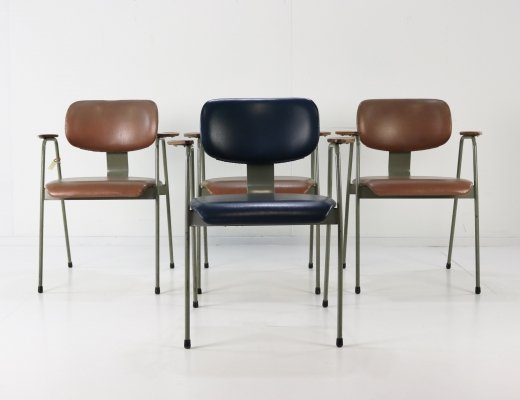 Set of 4 Willy van der Meeren F1 dining chairs for Tubax