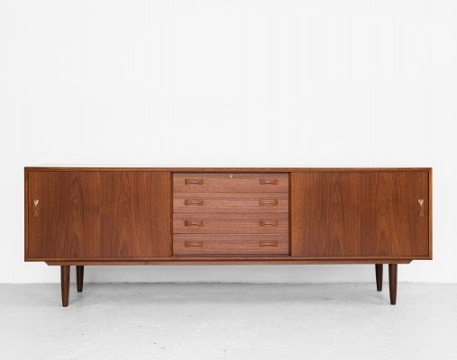 Midcentury Danish sideboard in teak by Clausen & Søn, 1960s